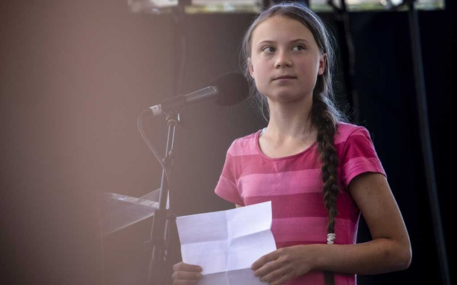 Greta Thunberg at a climate rally in New York, Sept 20, 2019. The New York Times.