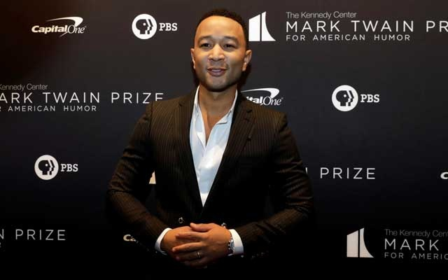 FILE PHOTO: John Legend arrives ahead of comedian Dave Chappelle receiving the Mark Twain Prize for American Humour at the Kennedy Centre in Washington, US, Oct 27, 2019. REUTERS