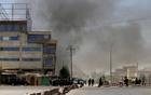 Smoke rises from the site of an attack in Kabul, Afghanistan Aug 21, 2018. REUTERS