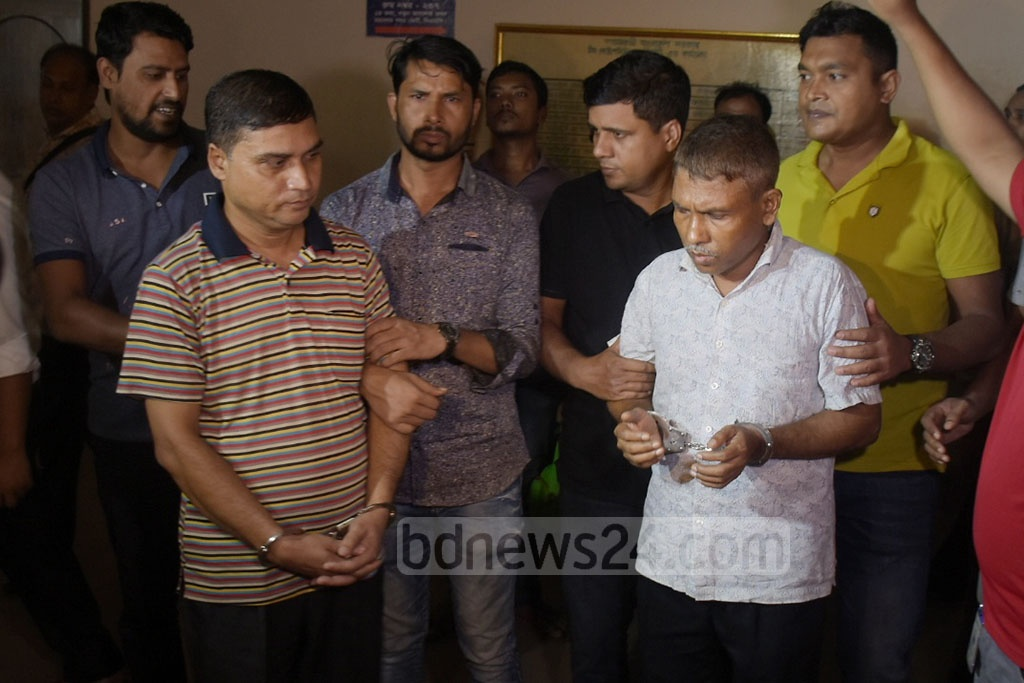 Chattogram Metropolitan Police have arrested two staff members of the Election Commission's offices on charges of issuing counterfeit NIDs to Rohingya refugees.