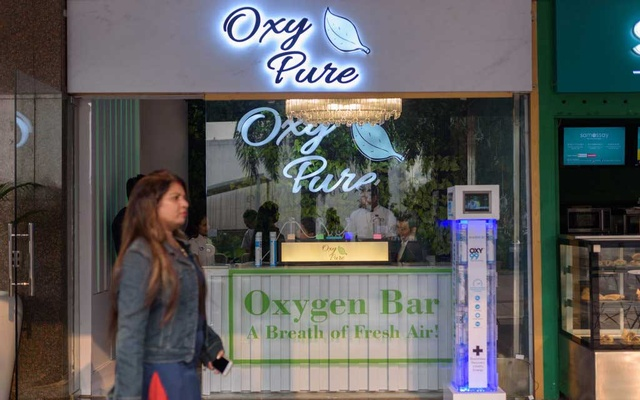 The Oxy Pure Oxygen Bar in New Delhi claims to offer pure oxygen to its customers. The New York Times