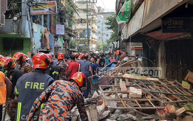 7 killed in Bangladesh building collapse after blast, many inured