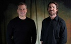 Cast members Christian Bale (R) and Matt Damon pose for a portrait while promoting the film