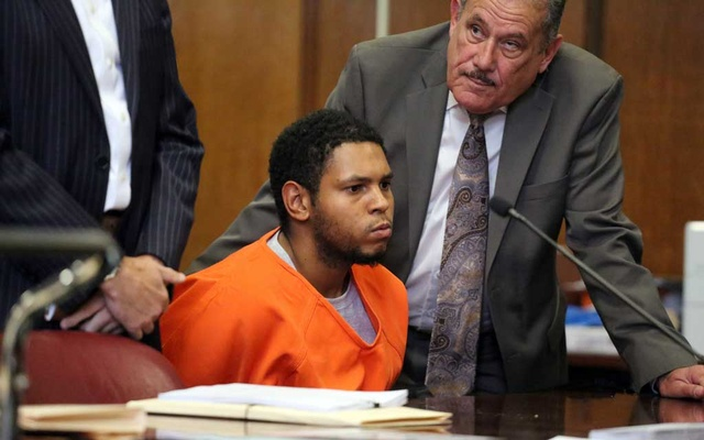 Randy Santos, who was charged with killing four homeless men, at his arraignment at New York State Supreme Court in Manhattan, Oct 28, 2019. Santos claims he cannot recall killing the four men — doing little to clear up the mystery surrounding the motive behind one of the most horrific quadruple murders in New York's history, a seemingly senseless attack on random homeless men sleeping on sidewalks. (Jefferson Siegel/The New York Times)