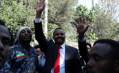 Jawar Mohammed waved to supporters in Addis Ababa, the Ethiopian capital, in Oct. The New York Times