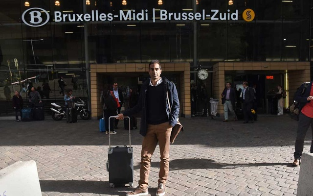 Mujtaba Rahman, an analyst specialising in the European Union, at Brussels-Midi train station in Brussels on Oct 2, 2019, after arriving from London.