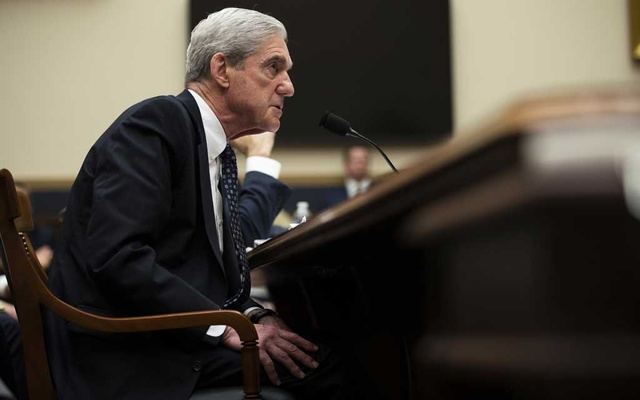 Robert Mueller, the former special counsel, testifies before the House Intelligence Committee in Washington, July 24, 2019