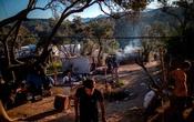 A view of the Moria camp on the island of Lesbos in September. The Greek government said it would begin gradually closing the camp as well as the Vathi camp on Samos by July. The New York Times