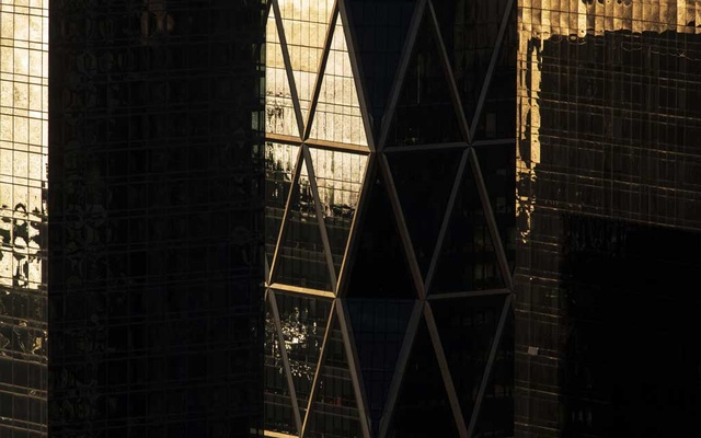 FILE PHOTO: Sunlight reflects off of the glass facade of Hearst Tower in New York, March 17, 2019. The New York Times