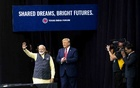 File Photo: President Donald Trump with Prime Minister Narendra Modi of India at a rally in Houston, Sep 22, 2019. Trump has pursued a stronger military relationship with India even as he has disparaged or cut back on defence ties with traditional allies in Asia. The New York Times