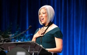 """""""I find it an astonishing privilege that this is what I get to do for a living,"""" Susan Choi said during her National Book Awards acceptance speech. She is this year's fiction winner for her novel """"Trust Exercise."""" The New York Times"""