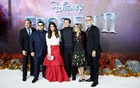 Josh Gad, Idina Menzel, Jonathan Groff, Jennifer Lee, Chris Buck and Peter Del Vecho attend the European premiere of Frozen 2 in London, Britain, November 17, 2019. Reuters