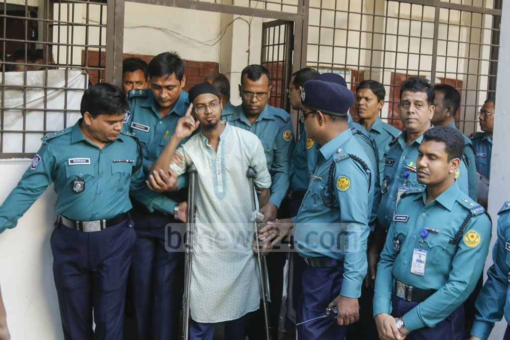 Rakibul Hasan Regan is being taken to court before a Dhaka tribunal announces the verdict on the Holey Artisan attack case. He has been sentenced to death for his role in 2016 horrific attack on the cafe.