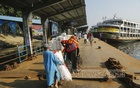 The launch terminal at Sadarghat was relatively empty after the Jatiya Sramik Oikya Parishad and Jatiya Sramik League called an impromptu strike on Wednesday. Photo: Mahmud Zaman Ovi