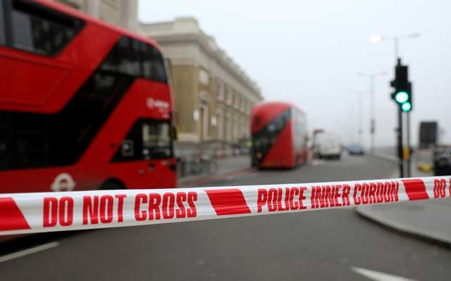 Police cordon is seen at the scene of a stabbing on London Bridge, in which two people were killed, in London, Britain, November 30, 2019. Reuters