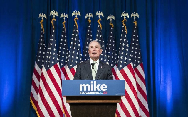 Mike Bloomberg, a Democratic presidential hopeful, speaks at a news conference in Norfolk, Va, Nov 25, 2019. The New York Times