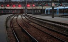 Empty tracks and platforms at the Saint Lazare train station in Paris on Thursday morning. The New York Times
