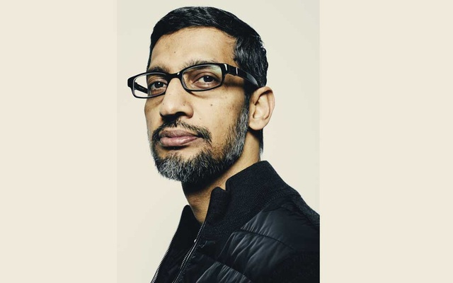 FILE -- Sundar Pichai, chief executive of Google, in Manhattan on Nov. 2, 2018. Pichai, who already runs Google, will replace Larry Page as Alphabet's chief executive. (Erik Tanner/The New York Times)