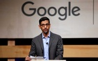 FILE PHOTO: Google CEO Sundar Pichai speaks during signing ceremony committing Google to help expand information technology education at El Centro College in Dallas, Texas, US October 3, 2019. Reuters