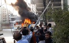 Two buses catch fire in Dhakas Karwan Bazar and
