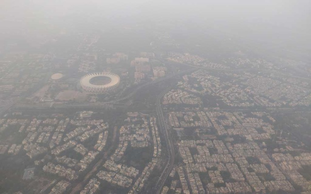 An aerial view of the Delhi skyline shrouded in smog, in New Delhi, India, Dec 8, 2019. REUTERS