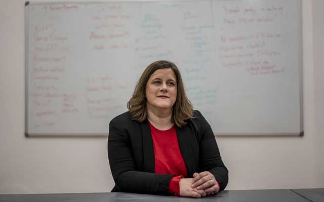 Jenni Sargent, managing director of First Draft, in London on Dec. 6, 2019. First Draft investigates online misinformation, which she described as a