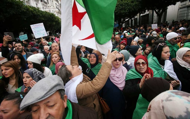 Demonstrators attend a protest to reject the presidential election results after the announcement of a new president in Algiers, Algeria Dec 13, 2019. REUTERS