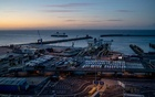 An overview of the port of Dover, England, on Oct. 10, 2019. Dover is a crucial passageway in Britain's trade with Europe. (Andrew Testa/The New York Times)