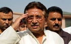 FILE PHOTO: Pakistan's former President and head of the All Pakistan Muslim League (APML) political party Pervez Musharraf salutes as he arrives to unveil his party manifesto for the forthcoming general election at his residence in Islamabad April 15, 2013. REUTERS