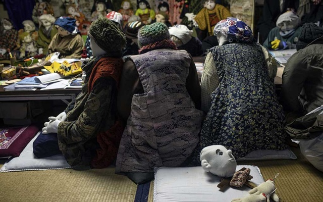 Finished and unfinished dolls in Nagoro, Japan, on Oct 7, 2019. In a childless mountain village on an island of Japan, two dozen adults compensate for the absence with the company of hundreds of giant handmade dolls. The New York Times