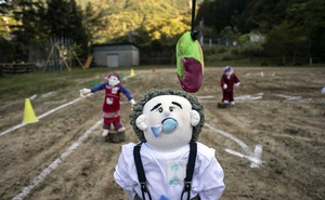 Life-sized dolls posed as scarecrows in Nagoro, Japan, on Oct 5, 2019. In a childless mountain village on an island of Japan, two dozen adults compensate for the absence with the company of hundreds of giant handmade dolls. The New York Times