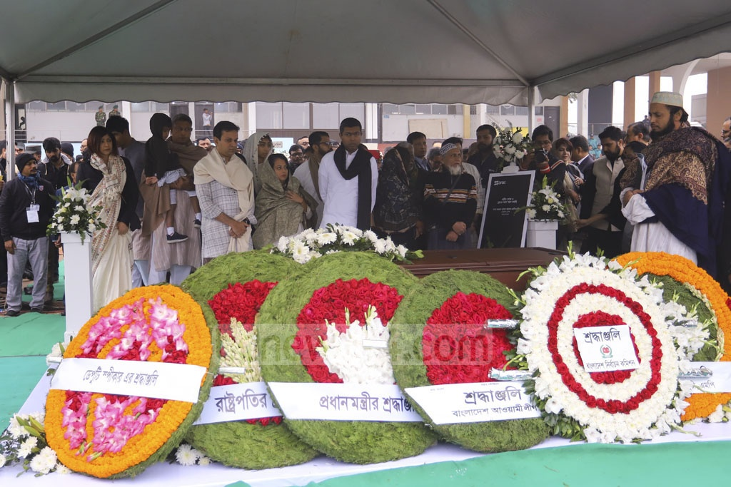People from all echelons of society paid their last respects to Fazle Hasan Abed, the founder of BRAC who died at the age of 83 on Friday, at the Dhaka's Army Stadium on Sunday. The body was taken to the Banani Graveyard after the funeral prayers at the stadium.