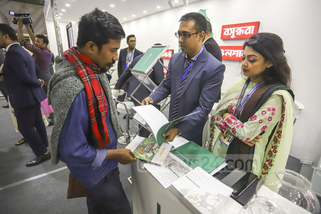 A five-day winter fair of the Real Estate and Housing Association of Bangladesh or REHAB starts at the Bangabandhu International Conference Centre in Dhaka on Tuesday. Photo: Asif Mahmud Ove