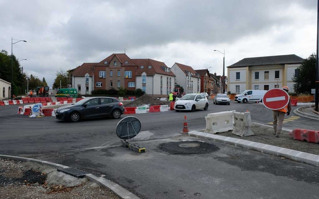 Construction work on the latest roundabout in Abbeville, France, Oct 15, 2019. The New York Times
