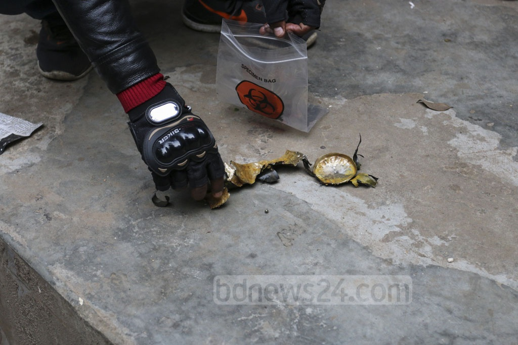 The bomb disposal unit of police carried out a controlled explosion of a crude bomb retrieved from outside Dhaka University's Madhu's Canteen on Thursday.