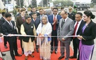 Prime Minister Sheikh Hasina inaugurates two Boeing Dreamliner 787-9 planes recently added to Biman Bangladesh's fleet, at the Dhaka airport on Saturday.