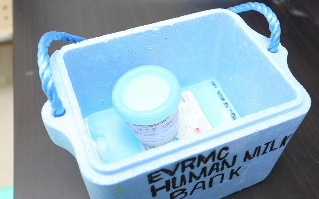 Milk preserved at a human milk bank in the Philippines. Photo: Courtesy of UNICEF