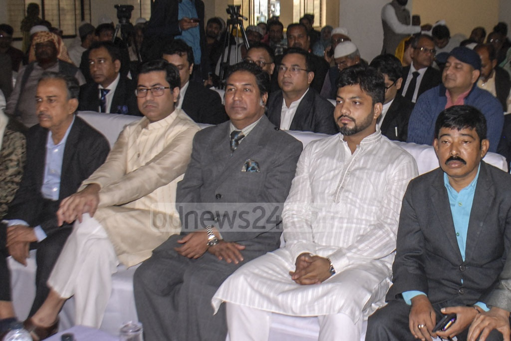 Dhaka South City Corporation mayor aspirants wait at the office of the returning officer for the announcement of validity of their candidature after scrutiny on Thursday.