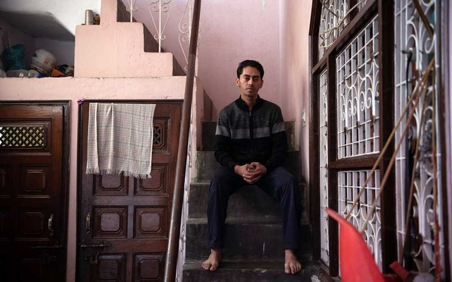 Saurabh Sharma, who worked for Oyo from 2014 to 2018 as an operations manager, at his home in New Delhi on Dec. 8, 2019. Sharma says the company sometimes deliberately withheld payments from hotel owners. (Saumya Khandelwal/The New York Times)