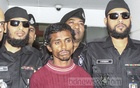 The RAB on Wednesday presented before the media 'Mojnu', 30, the lone suspect arrested over the rape of a Dhaka University student in the capital's Kurmitola. Photo: Asif Mahmud Ove