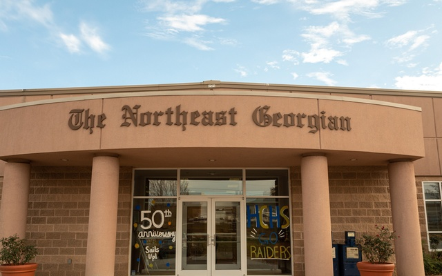 The offices of The Northeast Georgian of Cornelia, Ga, Nov 21, 2019. Lawmakers from both parties blame companies like Facebook and Google, which dominate the online ad industry, for the struggles of local newspapers. The New York Times