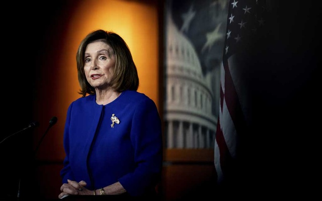 House Speaker Nancy Pelosi (D-Calif) speaks at a news conference on Capitol Hill in Washington, Jan 9, 2020. The New York Times