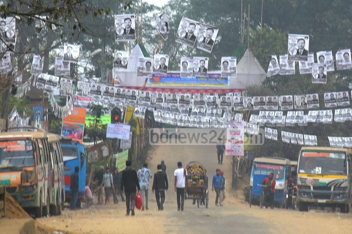 A view of Kalurghat during Chattogram-8 by-elections on Monday. Photo: Suman Babu