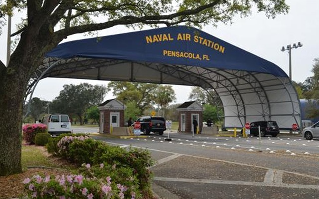 he main gate of the Naval Air Station Pensacola on Navy Boulevard in Pensacola, Florida Reuters