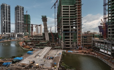 FILE -- A construction project in Colombo, Sri Lanka, June 2, 2018. Deals by Chinese companies to build ports, telecom networks and other infrastructure in poor countries have picked up, alarming some in the West. (Adam Dean/The New York Times)