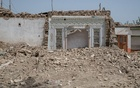 The ruin of a house, which is undergoing demolitions and new construction, in Yarkand, in the Xinjiang region of China, on Aug 8, 2019. The New York Times