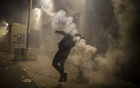 A demonstrator during a clash with security forces in Beirut, Lebanon, on Jan. 18, 2020. The New York Times