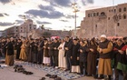 People gathering in support of the United Nations-backed Tripoli government praying at Martyrs' Square in Tripoli, Libya on Friday, Jan 17, 2020. The New York Times