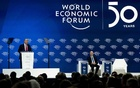 President Donald Trump delivers opening remarks at the World Economic Forum in Davos, Switzerland on Tuesday, Jan 21, 2020. The New York Times