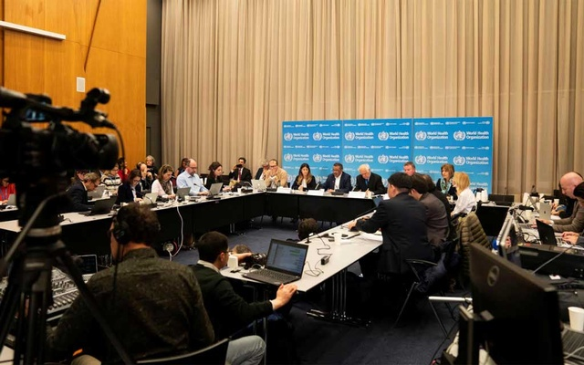 Director-General of WHO Tedros takes part to a news conference after a meeting of the Emergency Committee for Pneumonia due to the Novel Coronavirus 2019-nCoV in Geneva. REUTERS